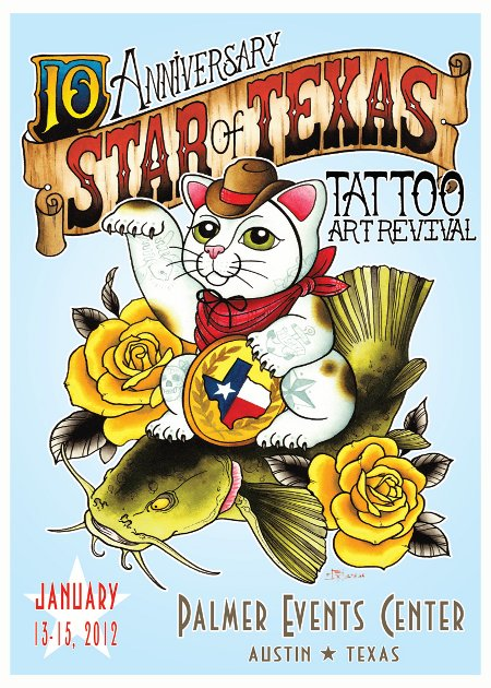Star of texas tattoo art revival iron tiger tattoo for Revival tattoo and piercing